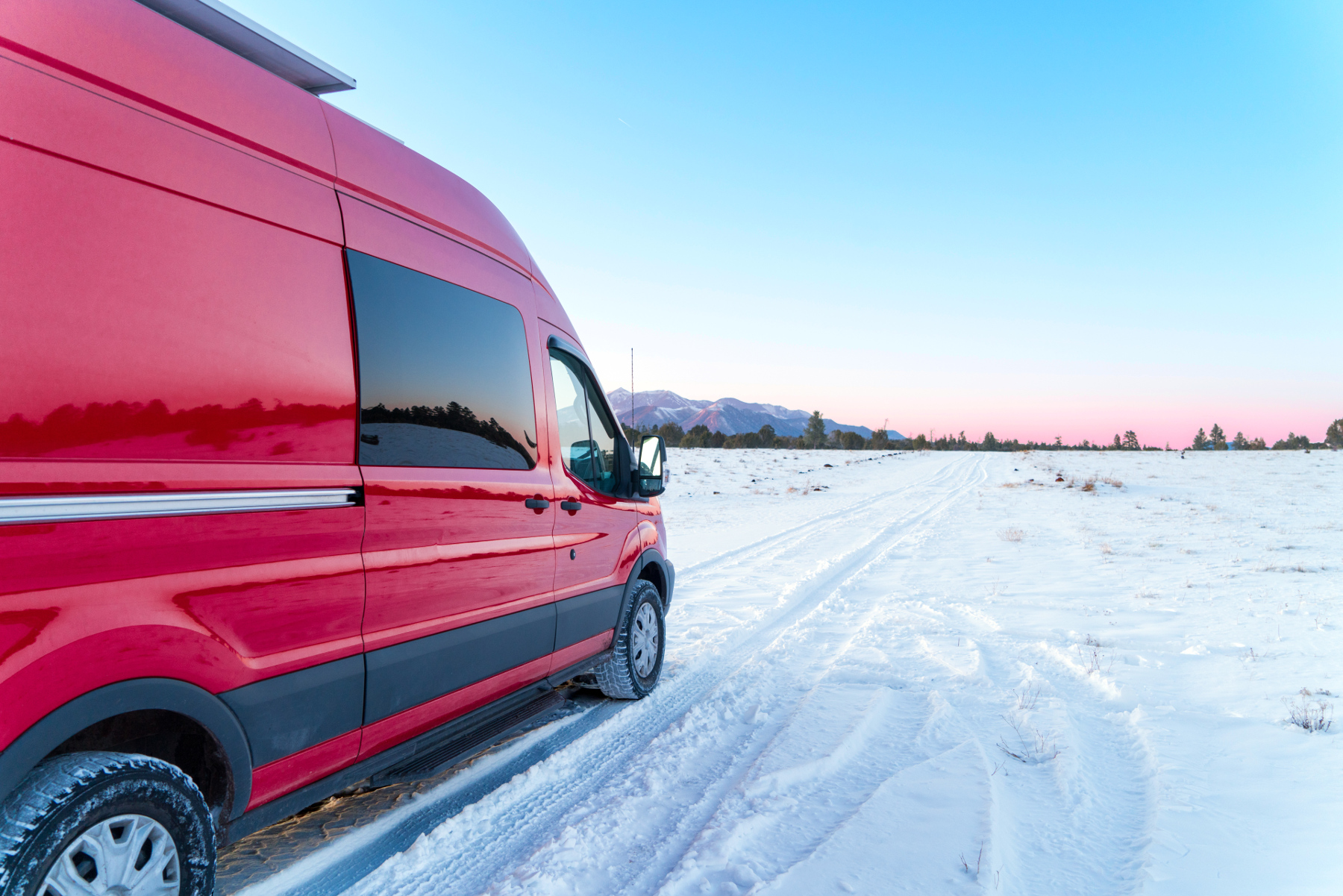 ford-transit-in-snow-arizona