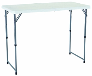 Adjustable Height Folding Table Lifetime-48in-24in-tall
