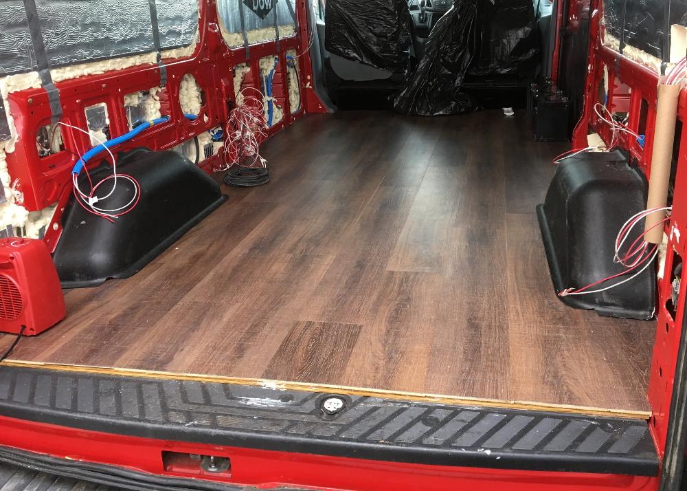 Installing Flooring in a Camper Van