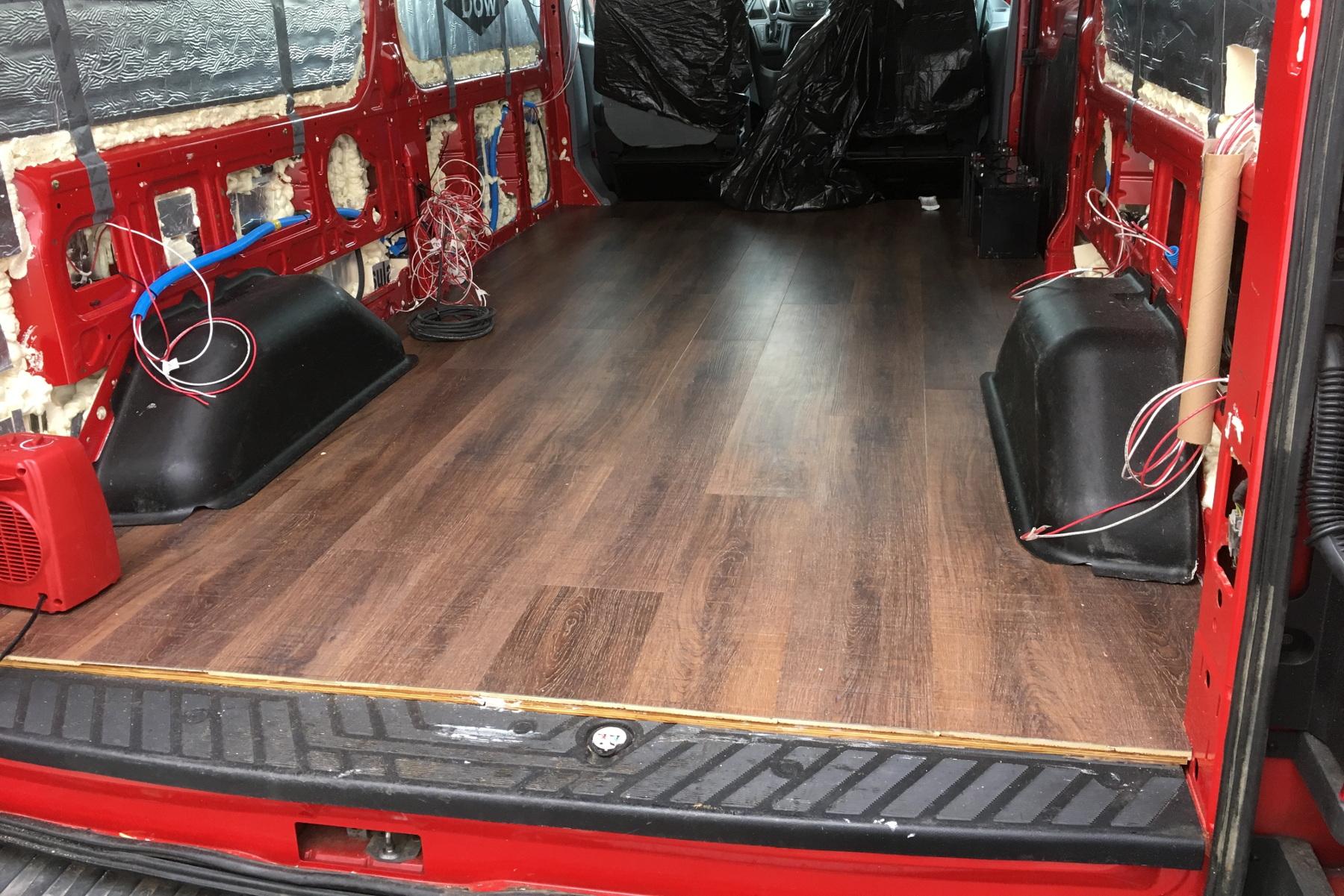Installing Flooring In A Camper Van Meandering Explorers