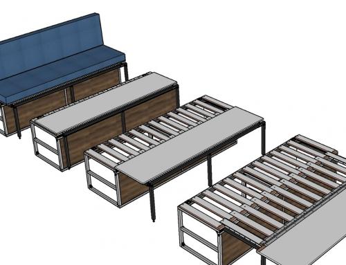 Custom Convertible Sofa Bed in a Camper Van
